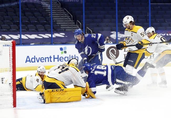 Nashville Predators vs Tampa Bay Lightning NHL Picks, Odds, Predictions 2/8/21