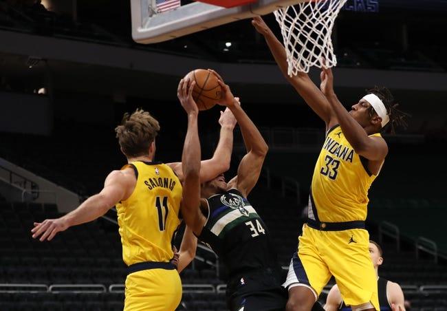 Indiana Pacers at Milwaukee Bucks - 3/22/21 NBA Picks and Prediction