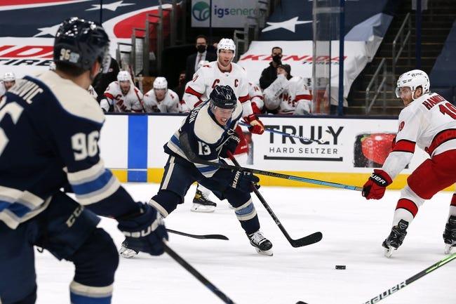 Columbus Blue Jackets vs Carolina Hurricanes NHL Picks, Odds, Predictions 2/8/21