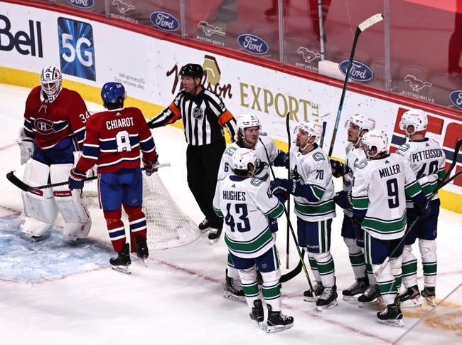 Vancouver Canucks vs Montreal Canadiens NHL Picks, Odds, Predictions 3/8/21
