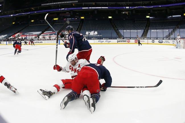 Carolina Hurricanes vs Columbus Blue Jackets NHL Picks, Odds, Predictions 2/15/21