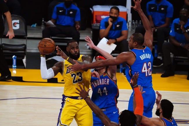 Oklahoma City Thunder at Los Angeles Lakers - 2/10/21 NBA Picks and Prediction