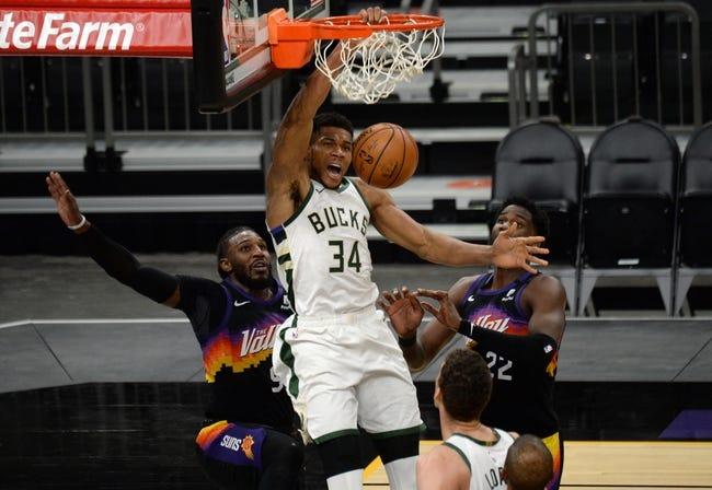 Phoenix Suns at Milwaukee Bucks - 4/19/21 NBA Picks and Prediction
