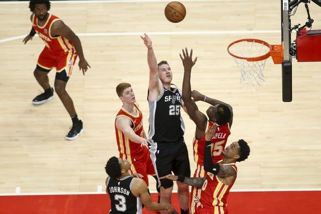 Atlanta Hawks at San Antonio Spurs - 4/1/21 NBA Picks and Prediction