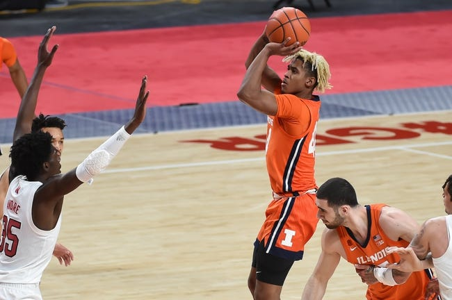 Nebraska at Illinois: 2/25/21 College Basketball Picks and Predictions