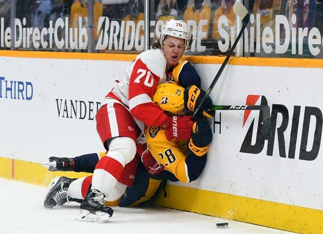 Nashville Predators at Detroit Red Wings - 2/23/21 NHL Picks and Prediction