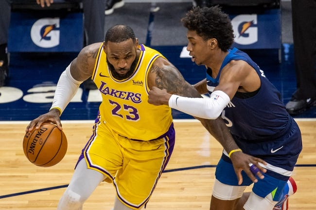 Minnesota Timberwolves at Los Angeles Lakers - 3/16/21 NBA Picks and Prediction