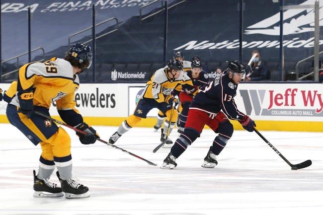 Columbus Blue Jackets vs Nashville Predators NHL Picks, Odds, Predictions 2/20/21