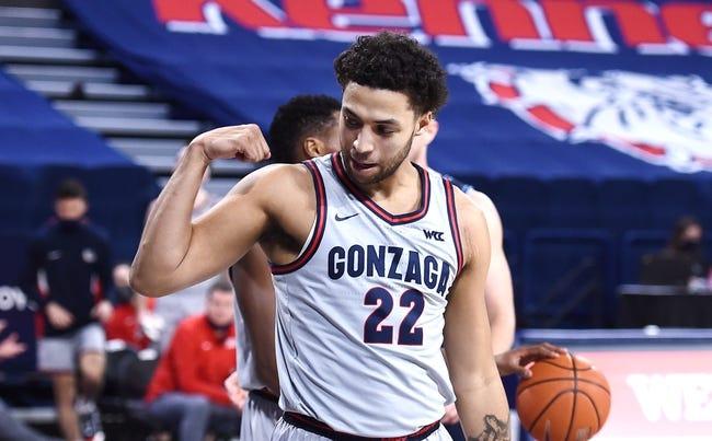 Santa Clara at Gonzaga 2/25/21 College Basketball Picks and Predictions