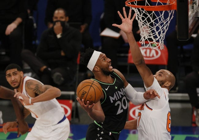 New York Knicks at Minnesota Timberwolves - 3/31/21 NBA Picks and Prediction