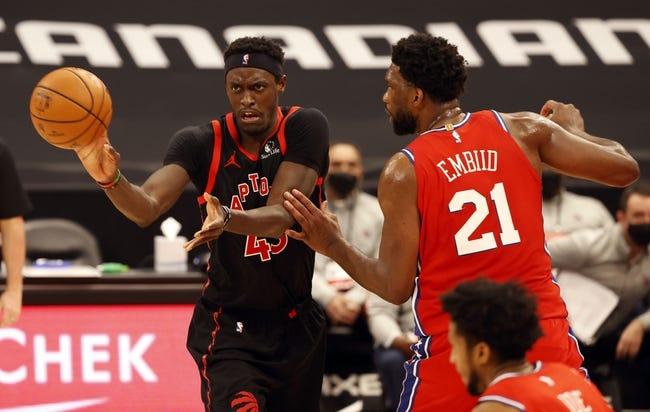 Philadelphia 76ers at Toronto Raptors - 2/23/21 NBA Picks and Prediction