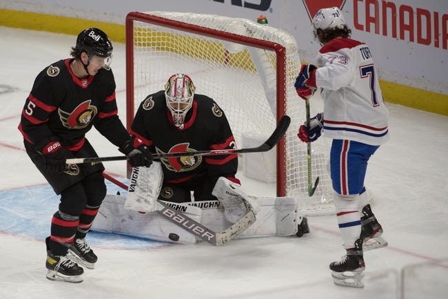 Montreal Canadiens at Ottawa Senators - 2/23/21 NHL Picks and Prediction