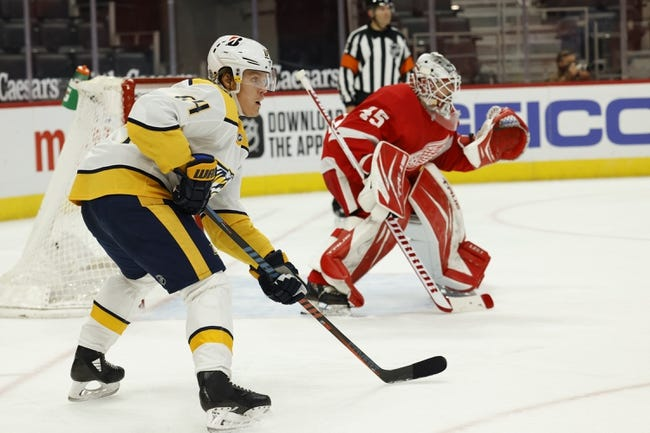 Detroit Red Wings vs Nashville Predators NHL Picks, Odds, Predictions 2/25/21