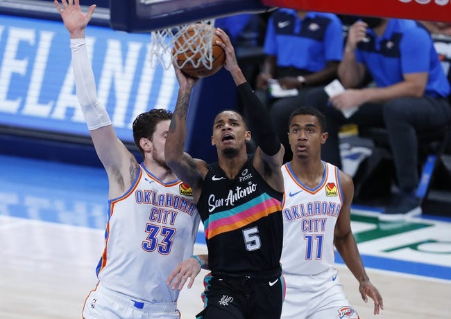 Oklahoma City Thunder at San Antonio Spurs - 3/4/21 NBA Picks and Prediction