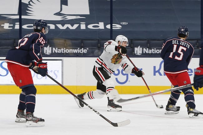 Chicago Blackhawks at Columbus Blue Jackets - 4/10/21 NHL Picks and Prediction