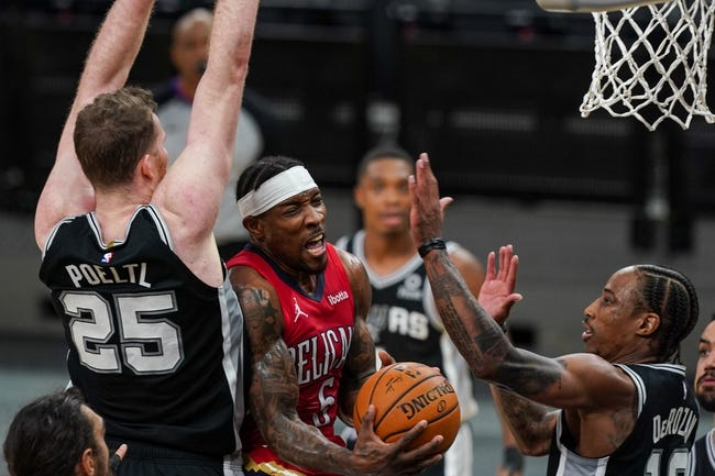 San Antonio Spurs at New Orleans Pelicans - 4/24/21 NBA Picks and Prediction