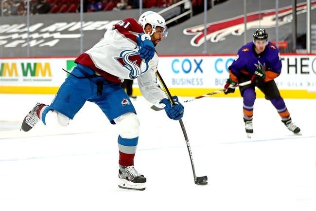 Colorado Avalanche vs Arizona Coyotes NHL Picks, Odds, Predictions 3/8/21