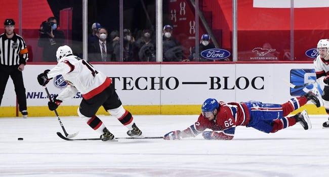 Ottawa Senators vs Montreal Canadiens NHL Picks, Odds, Predictions 4/1/21