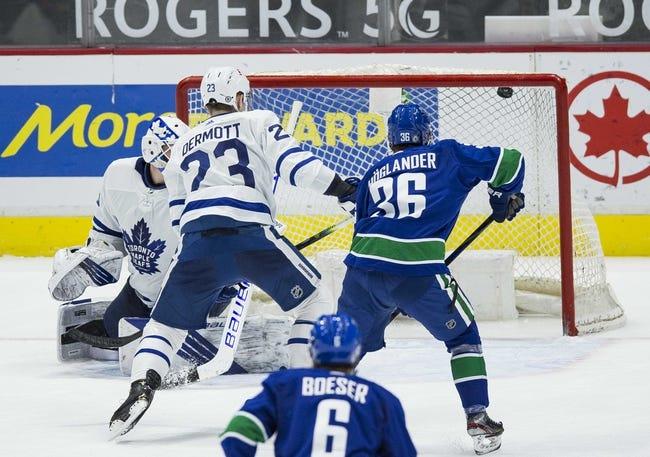 Vancouver Canucks vs Toronto Maple Leafs NHL Picks, Odds, Predictions 3/6/21