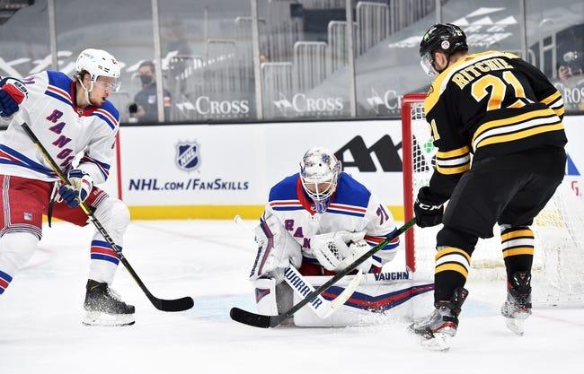 Boston Bruins vs New York Rangers NHL Picks, Odds, Predictions 3/13/21