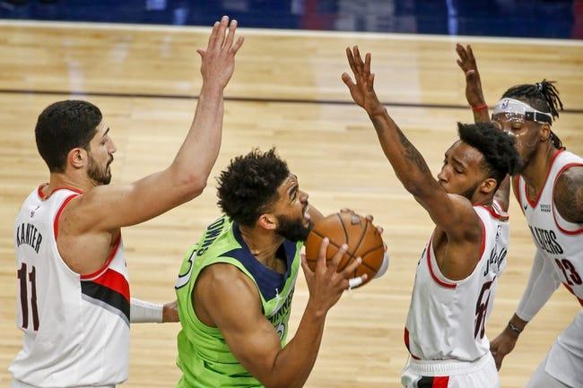 Portland Trail Blazers at Minnesota Timberwolves - 3/14/21 NBA Picks and Prediction