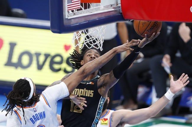 Memphis Grizzlies at Oklahoma City Thunder - 3/24/21 NBA Picks and Prediction