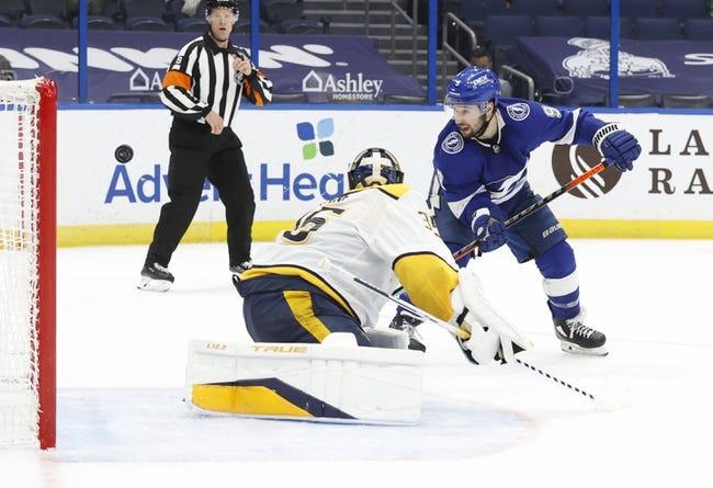 Nashville Predators vs Tampa Bay Lightning NHL Picks, Odds, Predictions 4/10/21