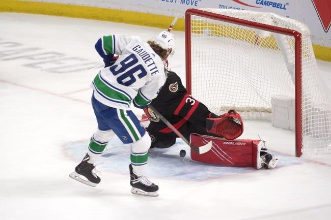 Vancouver Canucks vs Ottawa Senators NHL Picks, Odds, Predictions 4/22/21