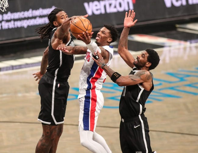 Detroit Pistons vs Brooklyn Nets NBA Picks, Odds, Predictions 3/26/21