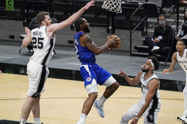 Los Angeles Clippers at San Antonio Spurs - 3/25/21 NBA Picks and Prediction