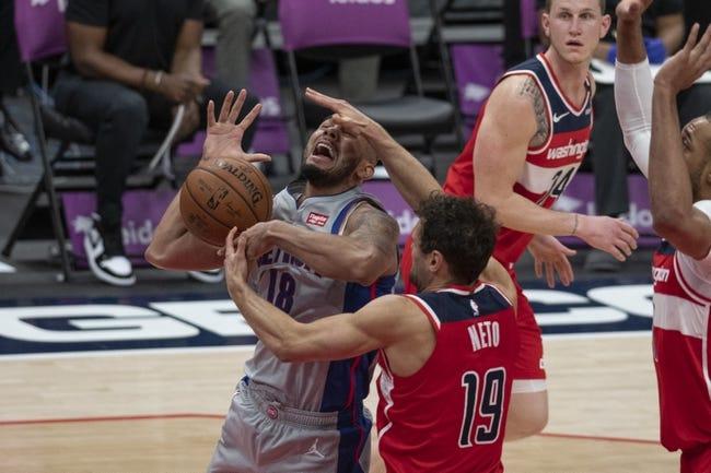 Detroit Pistons vs Washington Wizards NBA Picks, Odds, Predictions 4/1/21