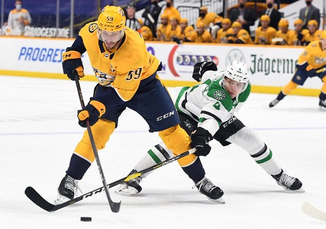 Nashville Predators vs Dallas Stars NHL Picks, Odds, Predictions 4/1/21