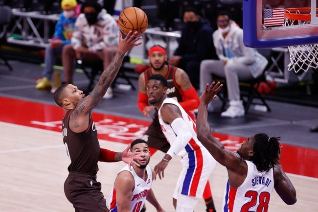 Detroit Pistons at Portland Trail Blazers - 4/10/21 NBA Picks and Prediction