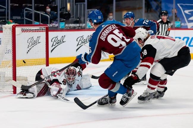 Arizona Coyotes at Colorado Avalanche - 4/12/21 NHL Picks and Prediction