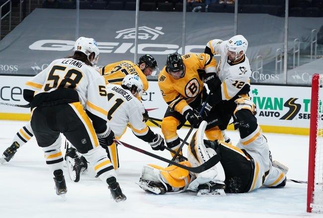 Boston Bruins at Pittsburgh Penguins - 4/25/21 NHL Picks and Prediction