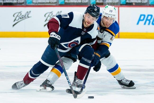 Colorado Avalanche at St. Louis Blues - 4/14/21 NHL Picks and Prediction