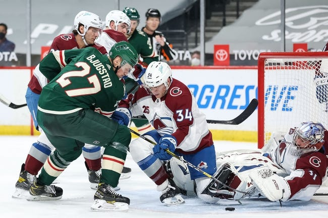 Colorado Avalanche at Minnesota Wild - 4/7/21 NHL Picks and Prediction