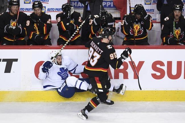 Calgary Flames at Toronto Maple Leafs - 4/13/21 NHL Picks and Prediction