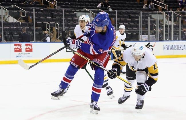 Pittsburgh Penguins at New York Rangers - 4/8/21 NHL Picks and Prediction