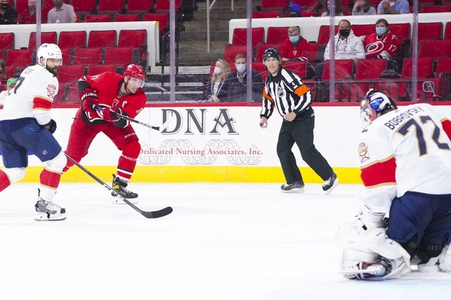 Florida Panthers at Carolina Hurricanes - 4/8/21 NHL Picks and Prediction