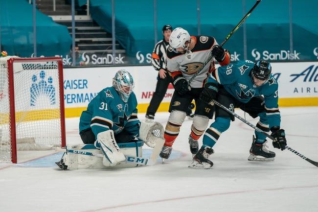Anaheim Ducks at San Jose Sharks - 4/12/21 NHL Picks and Prediction