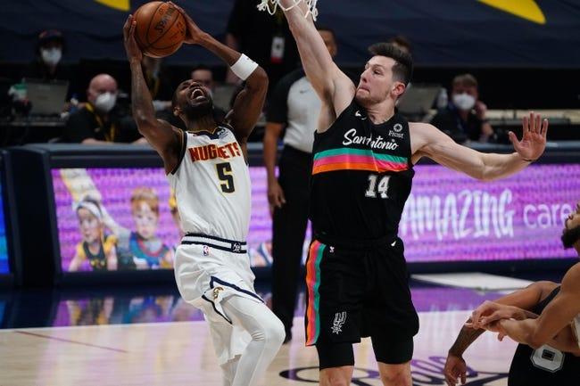 San Antonio Spurs at Denver Nuggets - 4/9/21 NBA Picks and Prediction