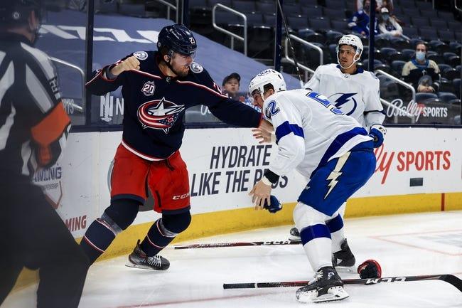 Columbus Blue Jackets at Tampa Bay Lightning - 4/22/21 NHL Picks and Prediction