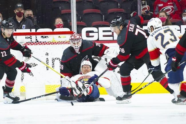 Carolina Hurricanes at Florida Panthers - 4/22/21 NHL Picks and Prediction