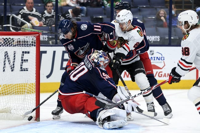 Chicago Blackhawks at Columbus Blue Jackets - 4/12/21 NHL Picks and Prediction