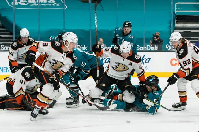 Anaheim Ducks at San Jose Sharks - 4/14/21 NHL Picks and Prediction