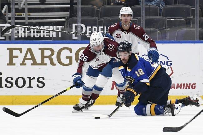 Colorado Avalanche at St. Louis Blues - 4/22/21 NHL Picks and Prediction