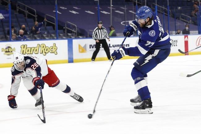 Columbus Blue Jackets at Tampa Bay Lightning - 4/25/21 NHL Picks and Prediction