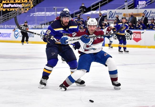 Colorado Avalanche at St. Louis Blues - 4/24/21 NHL Picks and Prediction