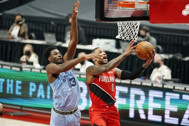 Memphis Grizzlies at Portland Trail Blazers - 4/25/21 NBA Picks and Prediction